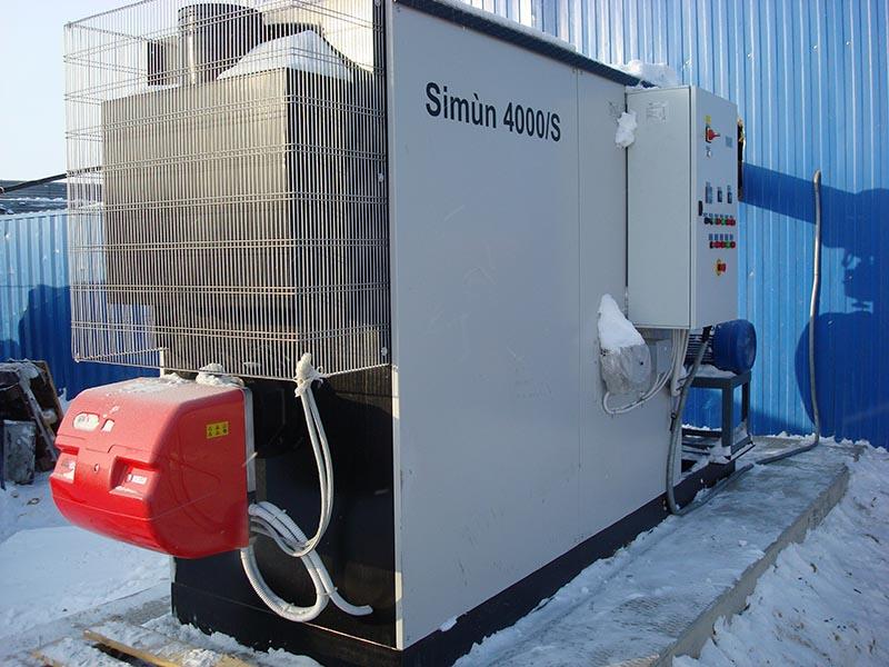 Порт Сабетта - Генератор горячего воздуха Simun 4000/S