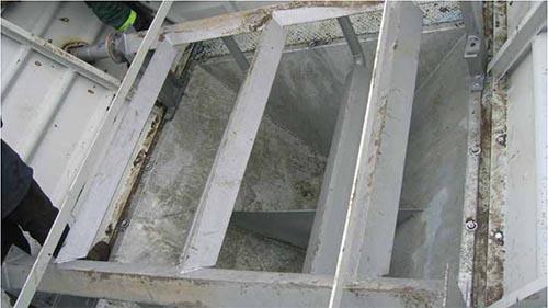 Вид при установке в бункер