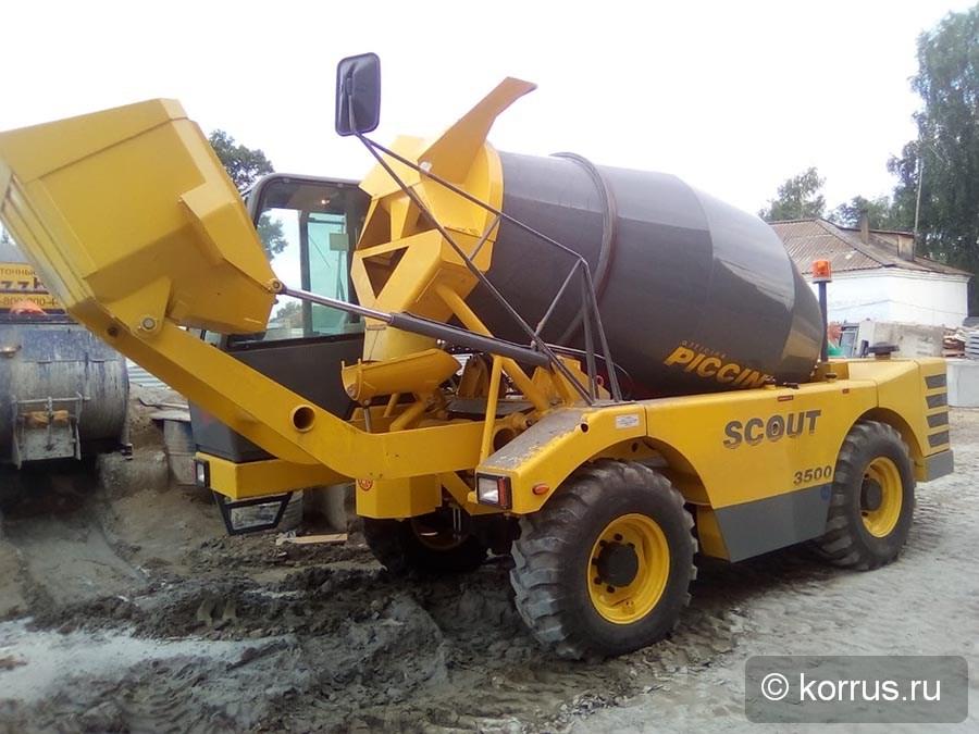 самоходный бетоносмеситель Piccini Scout 3500